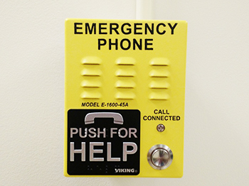Yellow emergency call box