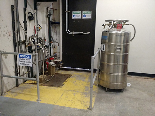 Liquid Nitrogen Filling Station at CHESS