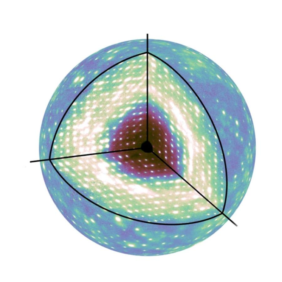 A highly detailed three-dimensional map of diffuse scattering