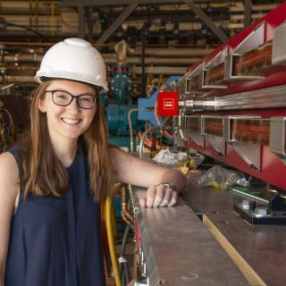 Grace King, a junior majoring in Physics, participated in the REU program at Cornell this summer.