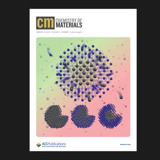 Figure 1 Cover image of the journal showing atomic diffusion in nanocrystals.
